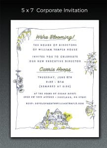 William Temple Invitation -designed by Diana Kolsky