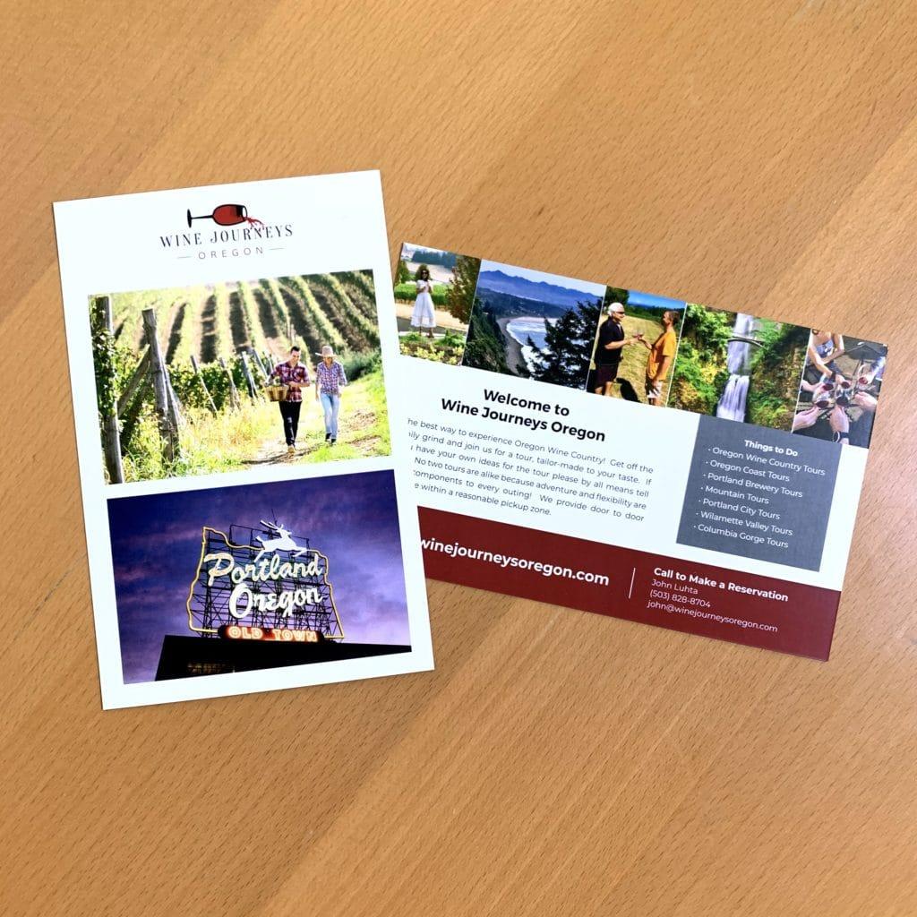 Wine Journeys Oregon Postcard